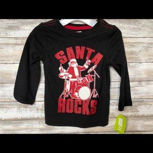 Crazy 8 Boys Christmas Santa Rocks T-Shirt